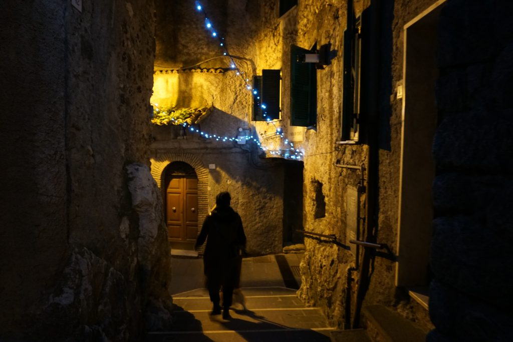 Olevano by night